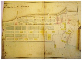 plan poudrerie 1845